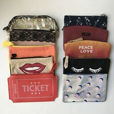 Ipsy Lot of 10 Makeup Cosmetic Bags Travel Toiletries Pouches Assorted Prints
