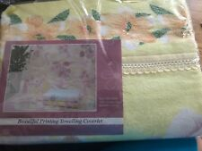 Printed towelling Coverlet Blanket 100% cotton 180x220cm