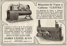 W5197 Macchine a Vapore James LEFFEL & CO. - OHIO - Pubblicità 1913 - Advertis.