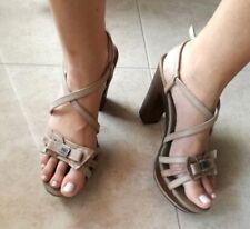 Vendo sandali donna beige tacco e plateu alto Nero Giardini n.40 cuoio pelle
