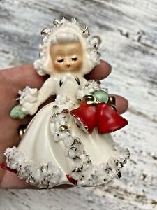 Vintage Holt Howard Japan Ceramic Angel Bells Candle Holder 1958 IMPERFECT