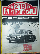 67 Porsche Monte Carlo Genuine Dealer Factory Poster Orig 46x 33 Linenbacked 911