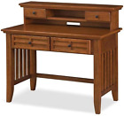 Home Styles Arts and Crafts Cottage Oak Student Desk and Hutch with Cable Two