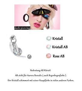 TOP*Exclusiver Kristall Drop Hänger Intimpiercing (Christina) 1,6 x 35mm kürzbar