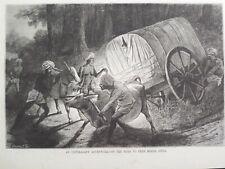 India Travel To Peer Merde Travancore Cart Bull Harper's Weekly 1878