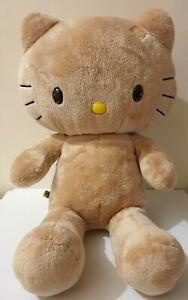 Hello Kitty Build A Bear Workshop Plush Toy Stuffed Animal Brown Cat 45 cm