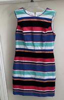 Kate Spade New York Stripe Shift Dress Pink Blue Size 6 EUC