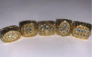 1981-1994 Rings Set Of 5 San  Francisco 49ers Championship Replica Super Bowl