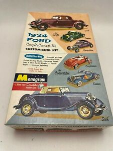 Vintage 1/24 MONOGRAM 1934 FORD Customizing Model Kit # PC72:198 For PARTS ONLY