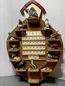 "Danbury Mint Beautiful Backyard Bird Calendar Figurine Wall Hanging 24"" x 16"""