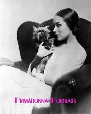 "DOLORES DEL RIO 8X10 Lab Photo 1920s ""IRVING CHIDNOFF"" Silent Era DOG Portrait"
