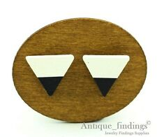 10Pcs 17mm Handmade Triangle Geometric Wood Bead Wood Cabochon HWC207L