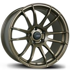 Avid1 AV20 18X9.5 5x100 +38 Bronze Wheels Aggressive Fits Corolla Celica Wrx Brz