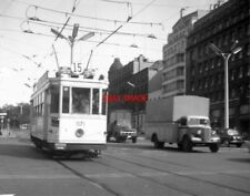 PHOTO  BELGIUM TRAMS 1959 BRUXELLES RUE ROYALE STIB TRAM NO 1171 ON ROUTE 15