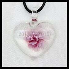 Fashion Women's Love lampwork Murano art glass beaded pendant necklace #M96