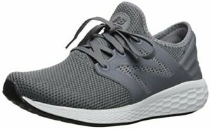 New Balance Men's Fresh Foam Cruz V2 Sneaker, Grey/White, 8 D US