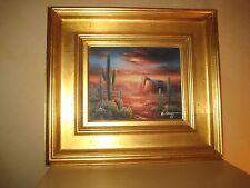"Bernard Duggan Original Oil, ""Arizona Sunset"", desert scape, signed, gold framed"