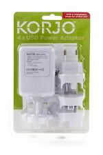 Korjo USB04 4 Port USB Travel Adaptor