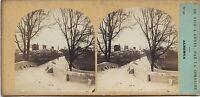 Italia Albenga Foto Estéreo mientras Que & Tournier Vintage Albúmina Aprox 1858