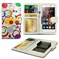 Printed Design Clip On PU Leather Flip Wallet Book Case Cover For Various Phones