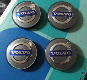 4 OEM Volvo Silver Center Hub Caps for S60 V70/XC70 S80 XC90 C70 S40 V50 C30