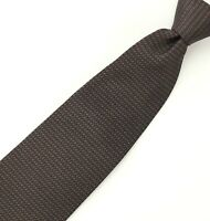 Tino Cosma 100% Silk Neck Tie - Brown & Blue Woven Pattern - Made in Italy