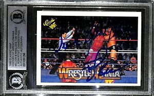 Jake Roberts Ted DiBiase Virgil Signed 1990 Classic WWF History Card BAS COA WWE