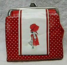 Vintage Holly Hobbie Coin Purse Vgc 1960s/70s? Holds coins, bills, cards L@K!