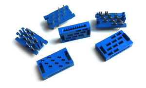 10 Pin Ribbon Cable Connector Blue IDC Through Hole (5 sets)
