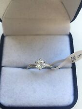 925 sterling silver engagement ring 1ct Cz Size J