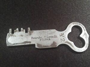 Antique Pauly Jail Building Co.  St.Louis / Prison Cell Key Y2