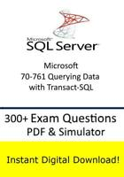 Microsoft 70-761 Querying Data with Transact-SQL (300+ Questions PDF Sim>Email)