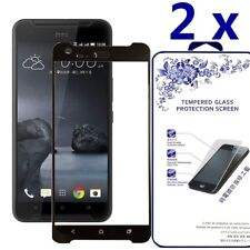 2-Pack For Htc X9 Full Cover Tempered Glass Screen Protector -Black