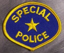 Embroidered Police Patch Special Police NEW