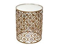 Glastisch Hofmann Beistelltisch Tisch Antik Goldfarben mit Spiegelboden Neu