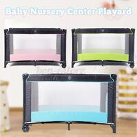 Baby Playard Cradle Bassinet Travel Portable Bed Playpen Toddler Foldable   D