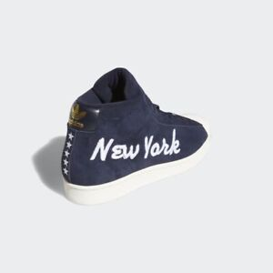 Adidas Pro Model New York NYC Mid Top Mens Shoes Size 12 Navy FV4497