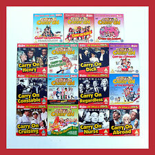 CARRY ON MOVIE COLLECTION 15 MOVIES CAMPING ABROAD NURSE BEHIND CRUISING KHYBER