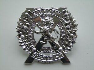 British Army London Regiment (A Company London Scottish) Anodised Cap Badge
