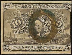 10 CENT FRACTIONAL CURRENCY 1863 1867 UNITED STATES NOTE PAPER MONEY