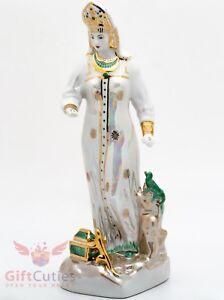 Dulevo Porcelain Mistress of Copper Mountain Figurine hand made painted souvenir