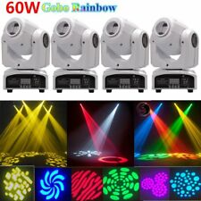 4PCS 60W RGBW Gobos Spot LED Moving Head Stage Light DMX Disco DJ Party Lighting