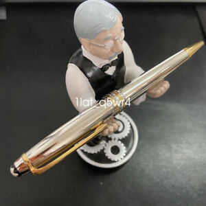 Luxury MB Silver glossy Midnight with gold clip Ballpoint Pen NO BOX