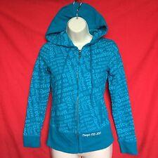 HARLEY DAVIDSON junior's fashion cotton blue winter hoodie jacket size--XS