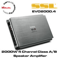SSL EVO2000.4 - 2000W 4 Channel Car Amplifier Speaker Amplifier Amp