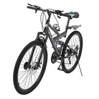 26inch Carbon Steel Mountain Bike Shimanos21 Speed Bicycle Full Suspension MTB