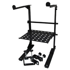 DJ Laptop Computer Stand w/ Tray and Clamps - 77BLPS-5COMBO