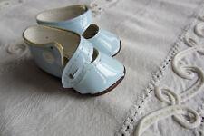Puppenschuhe Kunstleder, Spangenmodell, hellblau