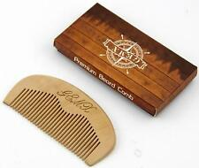 Wooden Comb Anti static Wide teeth Beard & Moustache Comb Gift Boxed