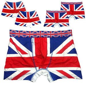Union Jack Men's Boxers Short 2 Pairs British Flag Underwear Cotton London Trunk